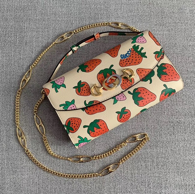 Gucci Zumi Strawberry print bag 572375