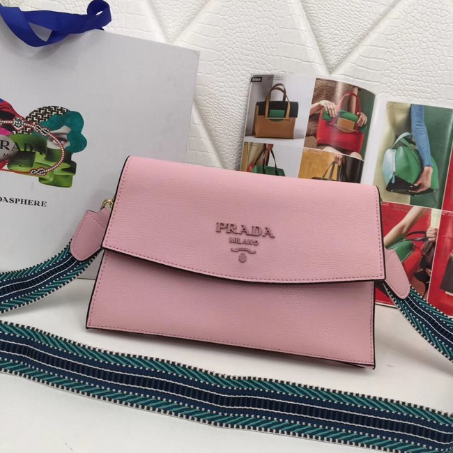 Prada Calf leather shoulder bag 66138 pink