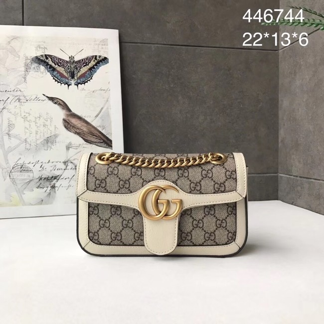 Gucci Ophidia GG Supreme small shoulder bag 446744 white
