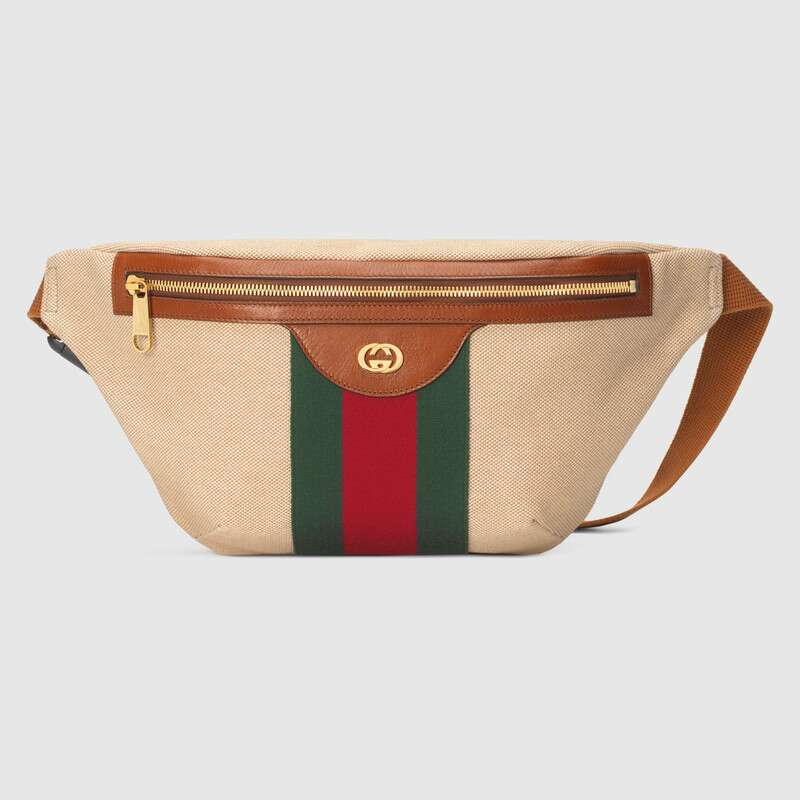 Gucci Vintage canvas belt bag 575082 Beige