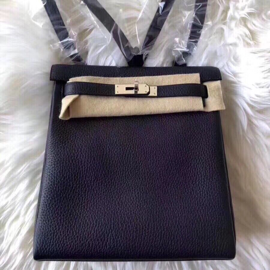 Hermes Kelly Ado Backpack H2398 Black