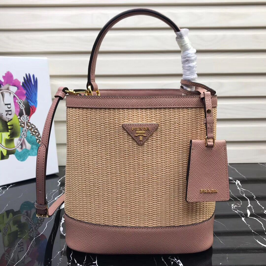 Prada Double Medium bag 1BA210 Pink