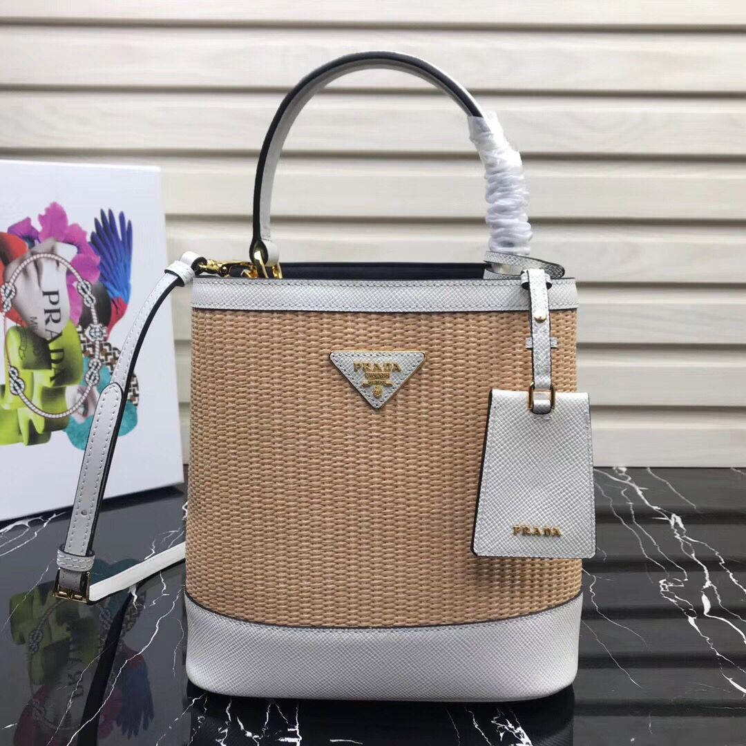 Prada Double Medium bag 1BA210 White