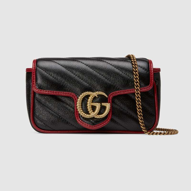 Gucci GG Marmont super mini bag 574969 Black