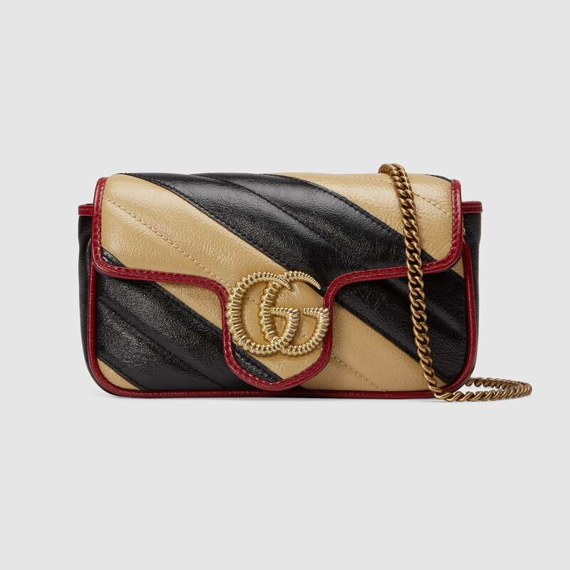 Gucci GG Marmont super mini bag 574969 Cognac