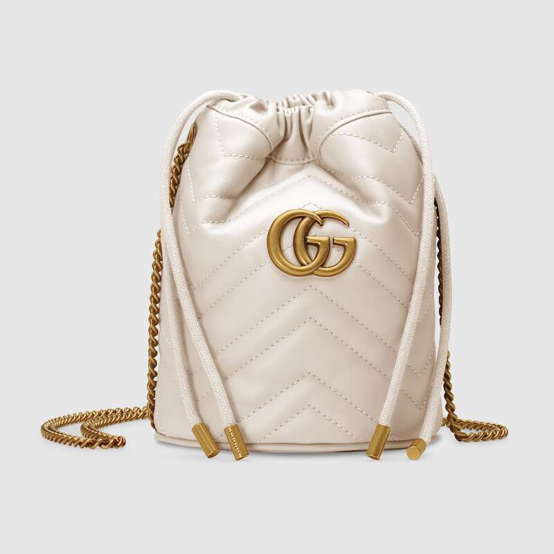 Gucci GG Marmont mini bucket bag 575163 White