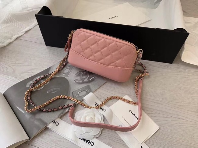 Chanel mini Shoulder Bag Leather B93825 pink