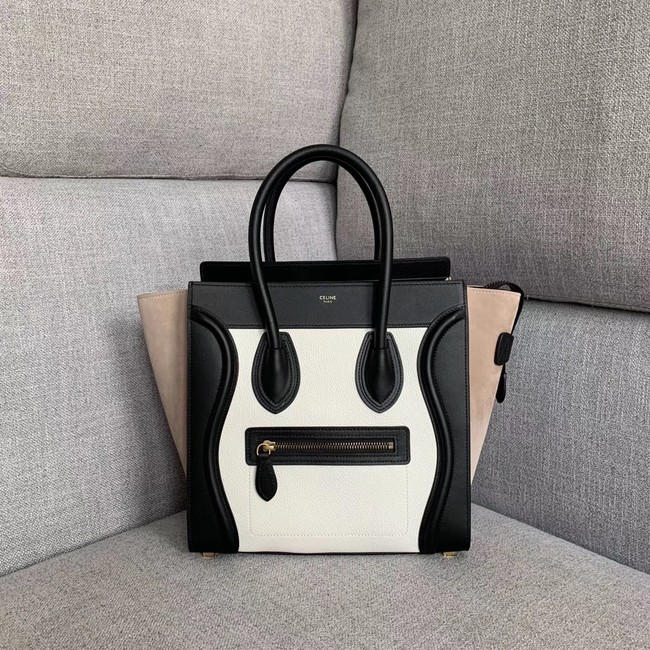 Celine Luggage Boston Tote Bags All Calfskin Leather 189793-7