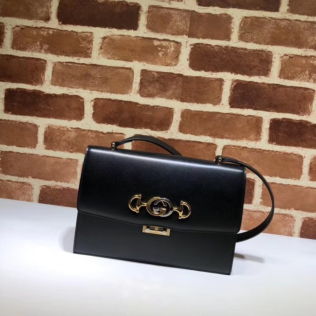 Gucci GG Leather Shoulder Bag A576388 Black