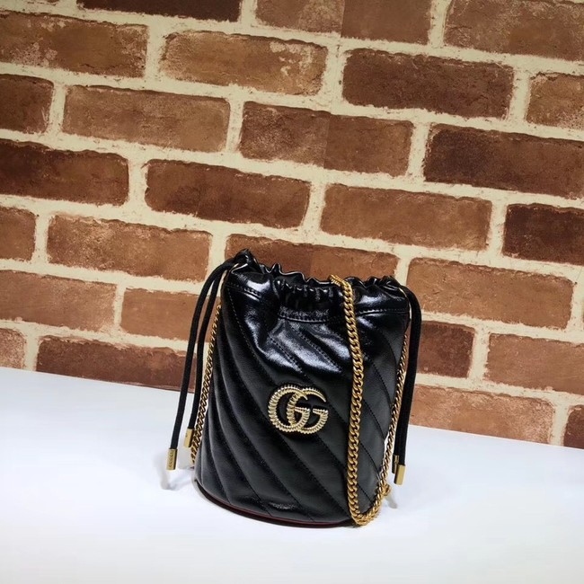 Gucci GG Marmont mini bucket bag A575163 black