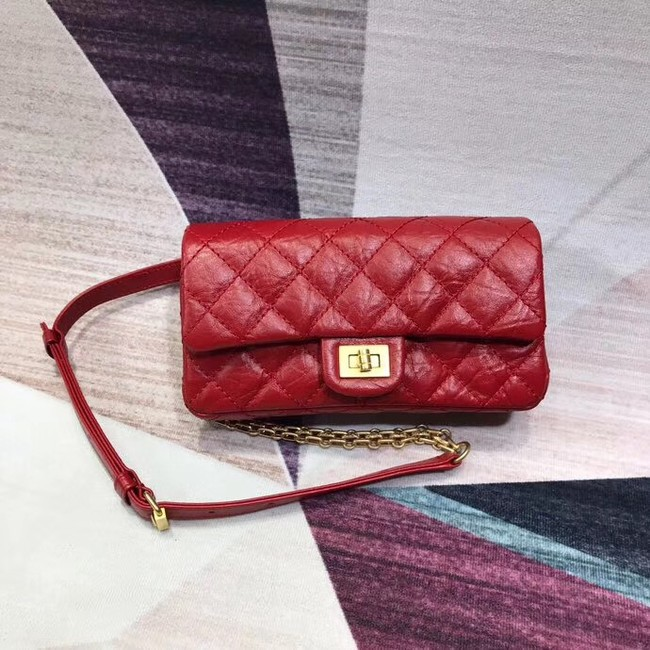 Chanel waist bag Aged Calfskin & Gold-Tone Metal A57991 red