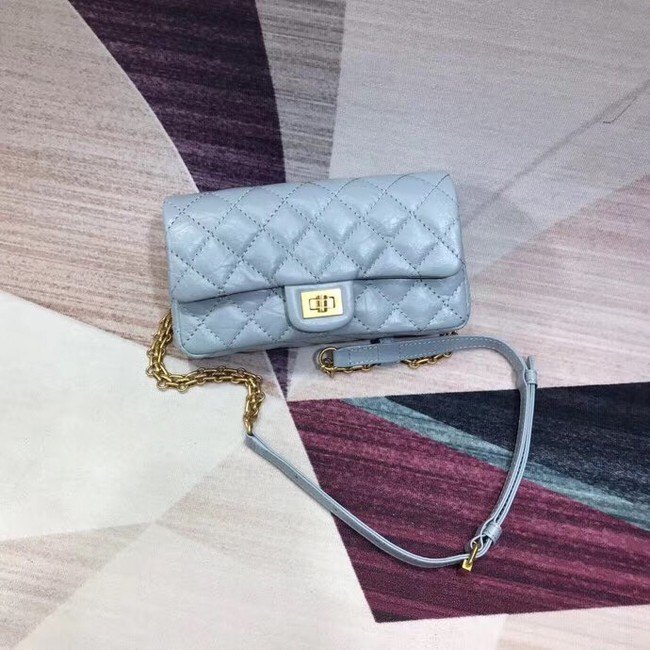 Chanel waist bag Aged Calfskin & Gold-Tone Metal A57991 light blue