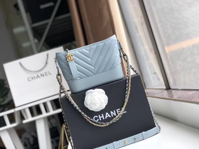 Chanel gabrielle small hobo bag A91810 light blue