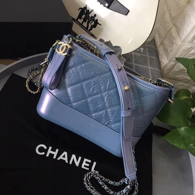 Chanel gabrielle small hobo bag B91810 blue