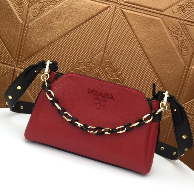 Prada Calf leather shoulder bag 2032 red