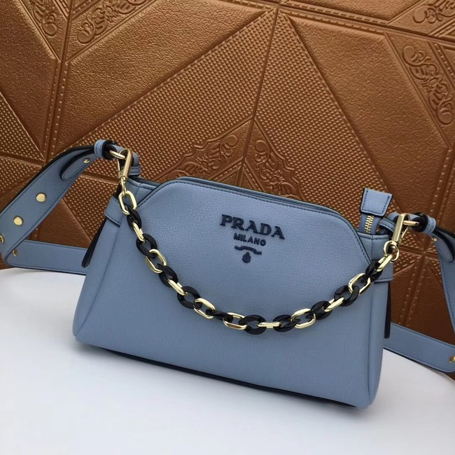 Prada Calf leather shoulder bag 2032 light blue