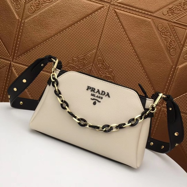 Prada Calf leather shoulder bag 2032 white