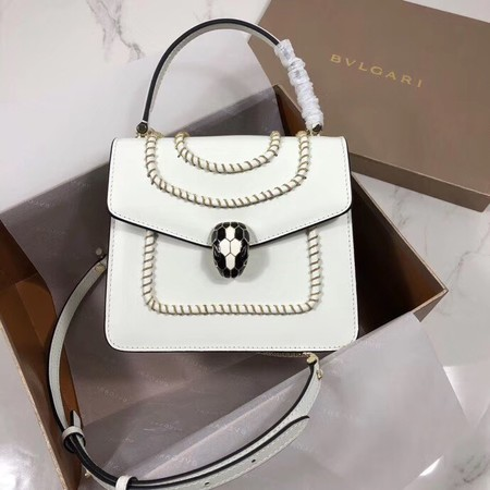 Bvlgari Serpenti Forever leather small crossbody bag B286999 white