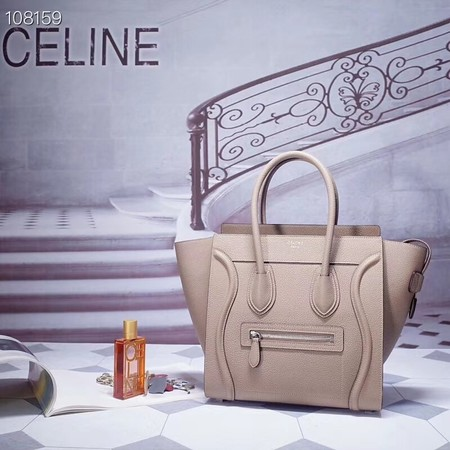 CELINE MICRO LUGGAGE HANDBAG IN LAMINATED LAMBSKIN 167793-12