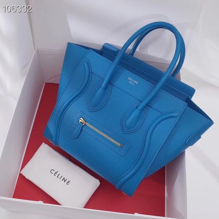 CELINE MICRO LUGGAGE HANDBAG IN LAMINATED LAMBSKIN 167793-17