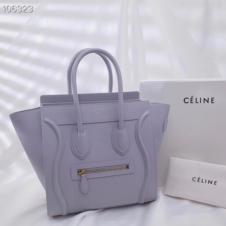 CELINE MICRO LUGGAGE HANDBAG IN LAMINATED LAMBSKIN 167793-19