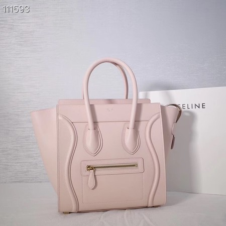 CELINE MICRO LUGGAGE HANDBAG IN LAMINATED LAMBSKIN 167793-23