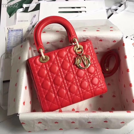 LADY DIOR LAMBSKIN BAG CAL44550 red