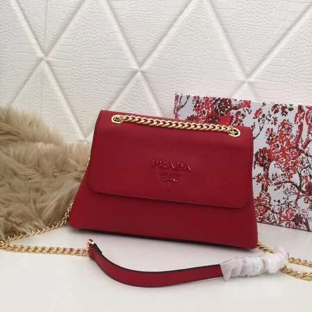 Prada Calf leather shoulder bag 82501 red