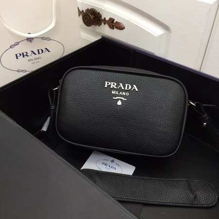 Prada Calf leather shoulder bag 1841 black