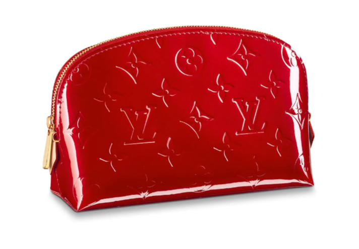 Louis vuitton Monogram Vernis Leather COSMETIC POUCH M90172 red