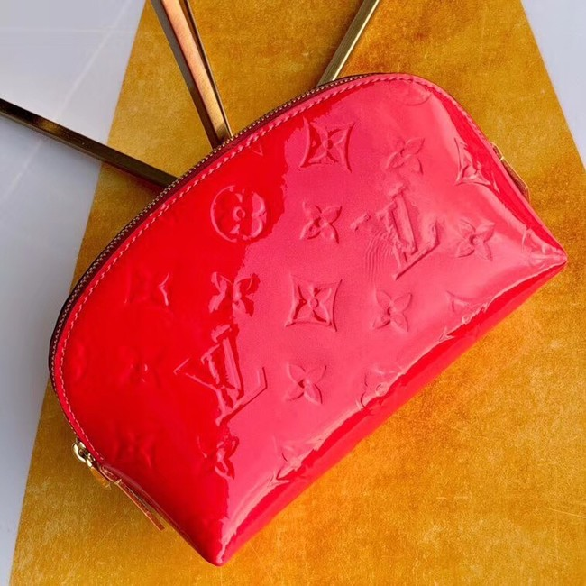 Louis vuitton Monogram Vernis Leather COSMETIC POUCH M90172 Watermelon Red