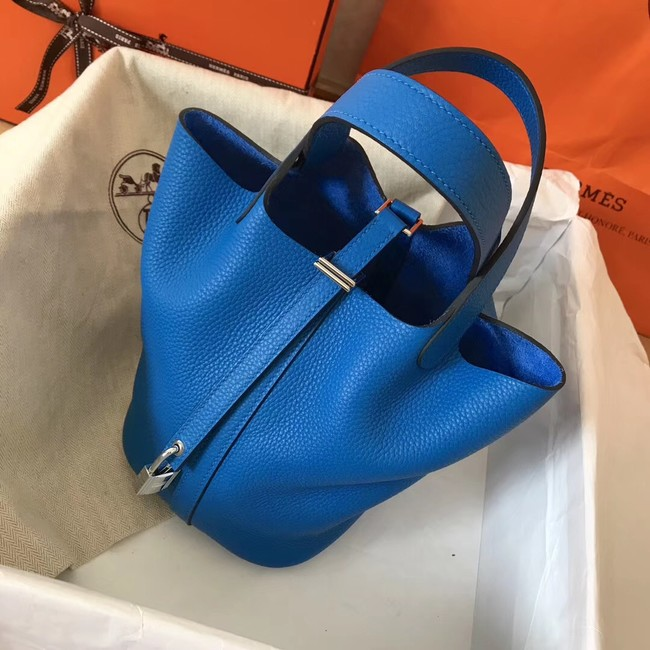 Hermes Picotin Lock PM Bags Original Leather H8688 blue