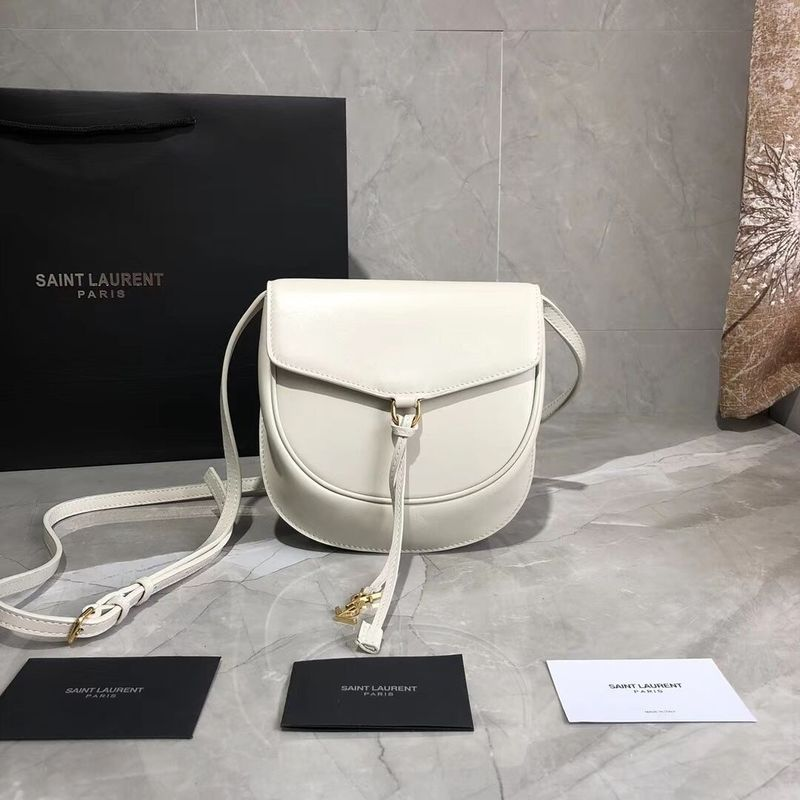 Yves Saint Laurent Cow Leather Shoulder Bag Y551559 White