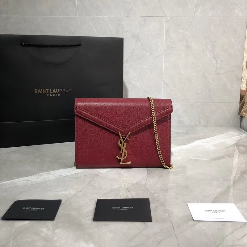 Yves Saint Laurent Original Leather Shoulder Bag Y582334 Red