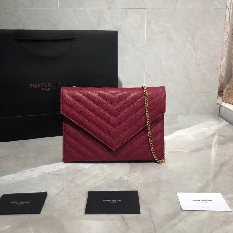 Yves Saint Laurent Shoulder Bag Original Leather Y569267 Red