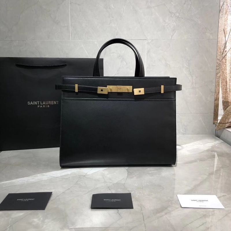 Yves Saint Laurent Top Handle Bag Original Leather Y568702 Black