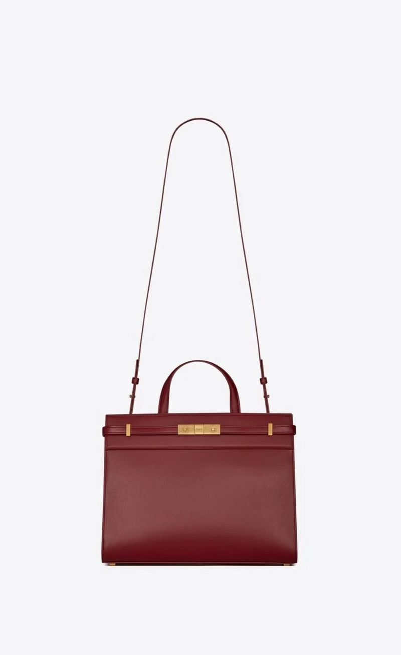 Yves Saint Laurent Top Handle Bag Original Leather Y568702 Red