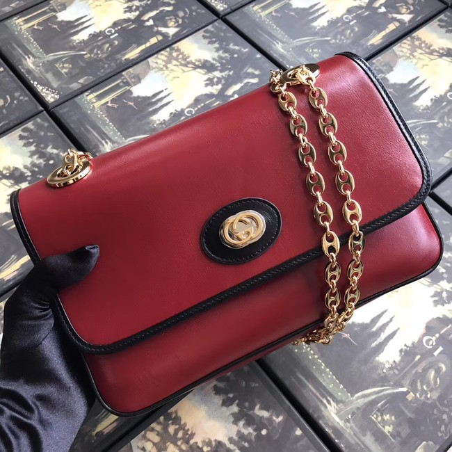 Gucci GG Original Leather Shoulder Bag 576421 Red