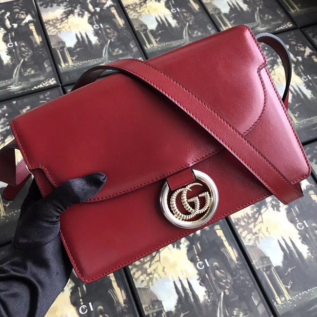 Gucci GG Original Leather Shoulder Bag 589474 Red