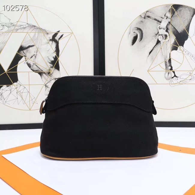 Hermes Cosmetic Bag H3699 Black
