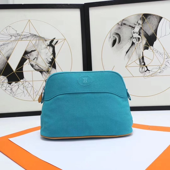 Hermes Cosmetic Bag H3699 Blue