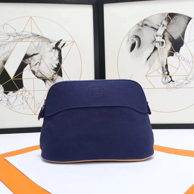 Hermes Cosmetic Bag H3699 Dark Blue