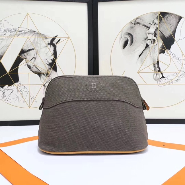 Hermes Cosmetic Bag H3699 Grey