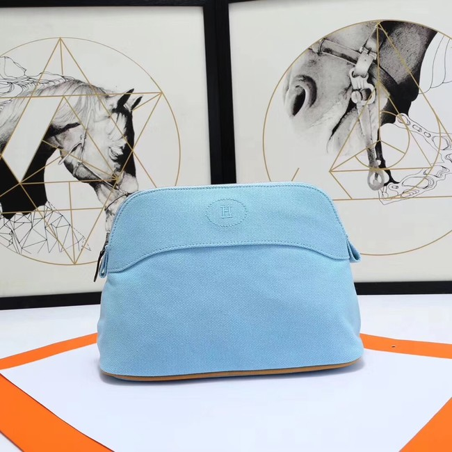 Hermes Cosmetic Bag H3699 Light Blue