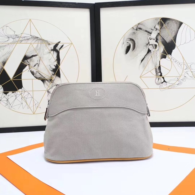 Hermes Cosmetic Bag H3699 Light Grey