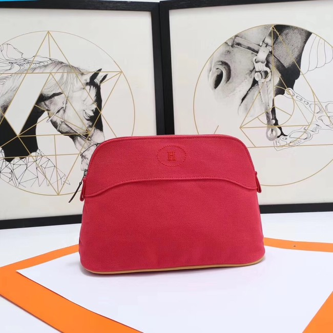 Hermes Cosmetic Bag H3699 Red