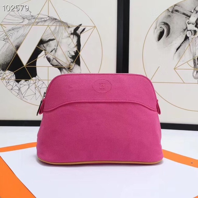 Hermes Cosmetic Bag H3699 Rose