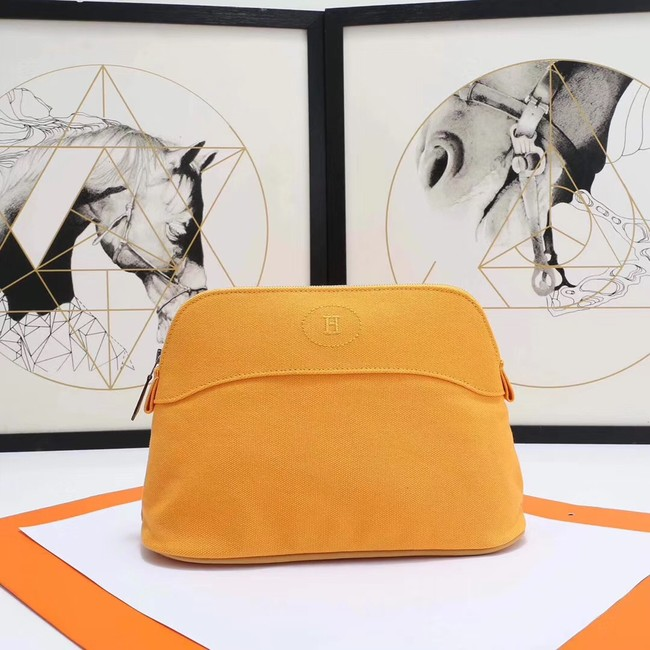 Hermes Cosmetic Bag H3699 Yellow