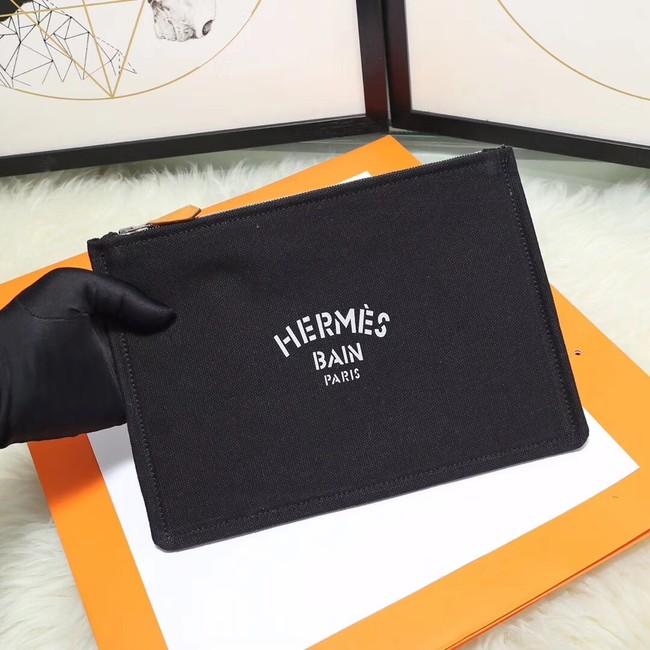 Hermes Cosmetic Bag H3700 Black