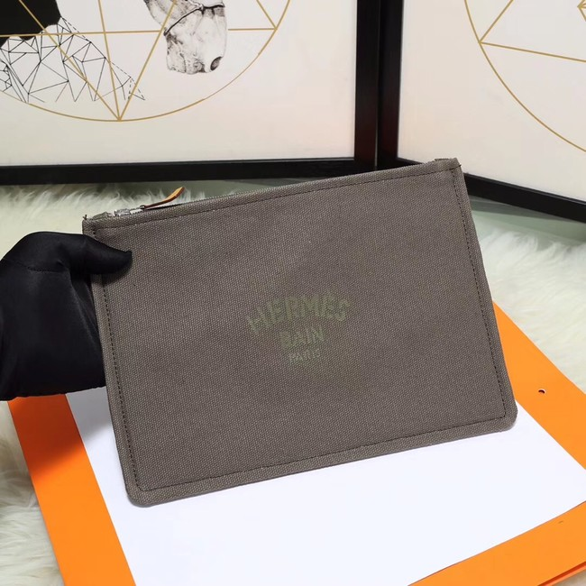 Hermes Cosmetic Bag H3700 Grey